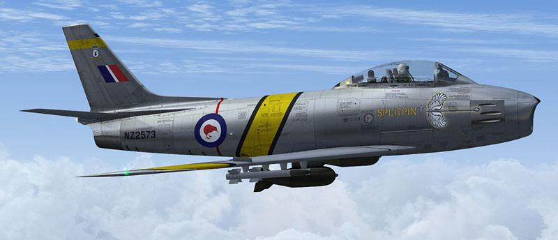 Milviz F-86 Sabre RNZAF No.75 Sqn 'Splitpin'