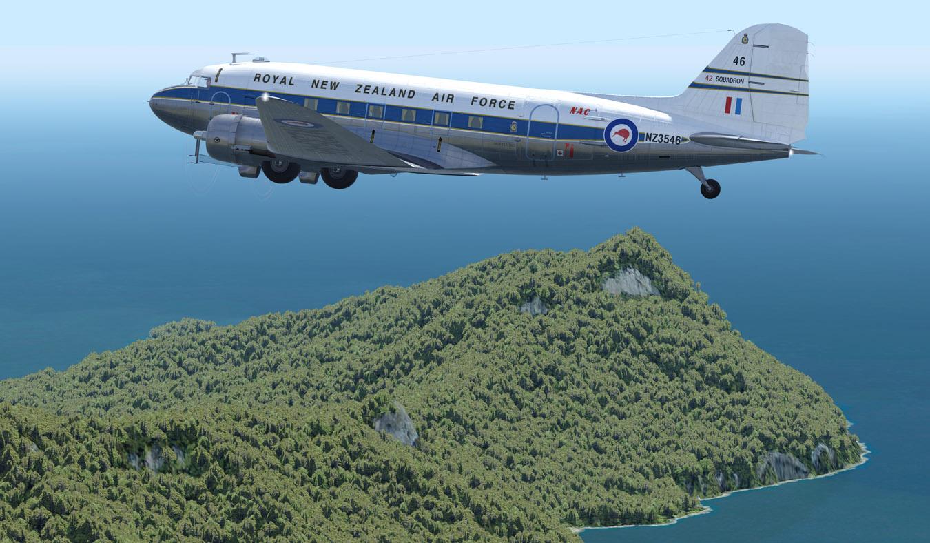 ZK-DAK C-47/DC-3 PBR