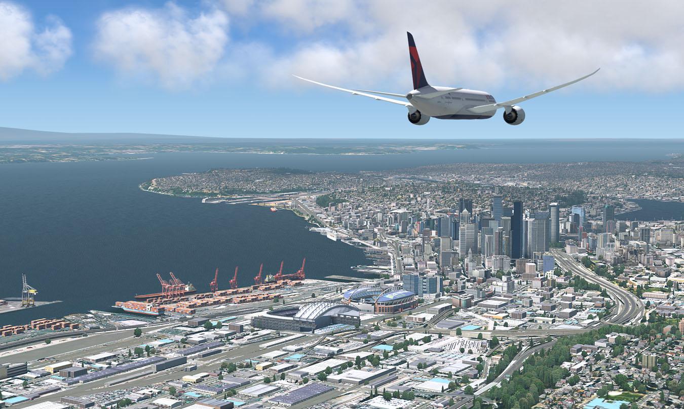B787 over Seattle: ORBX TEWA