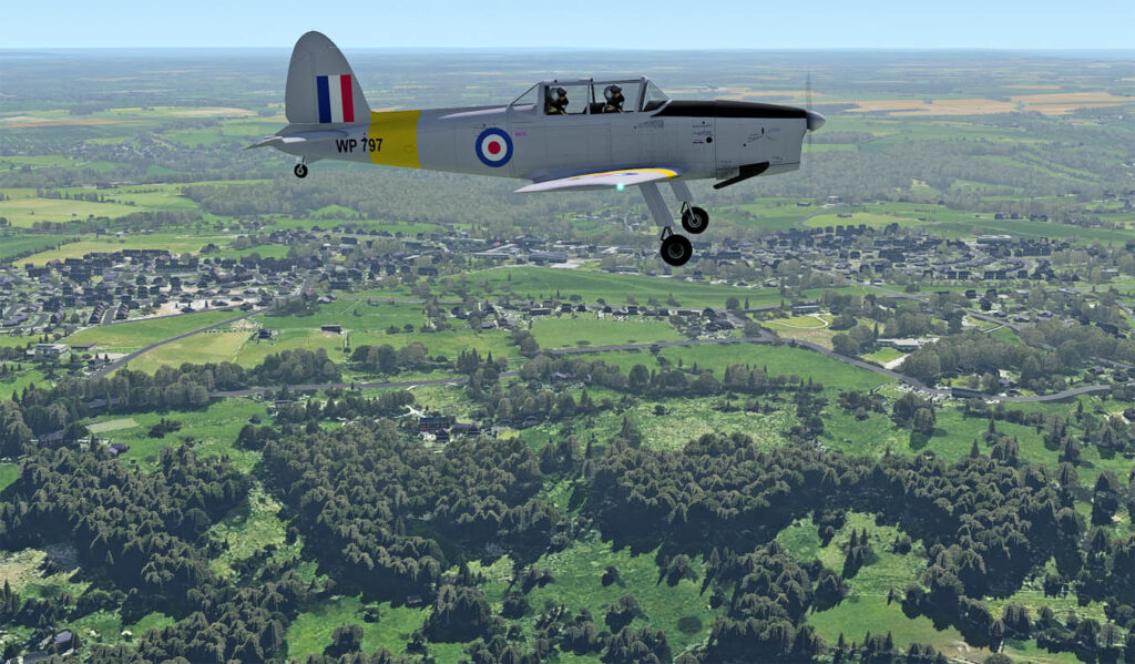 XP11b14 LUT test - Chipmunk over Gloucestershire: ORBX TEGBS