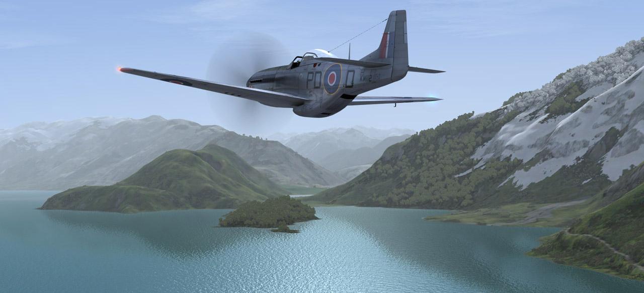 FSX DX10 P-51 near NZQN